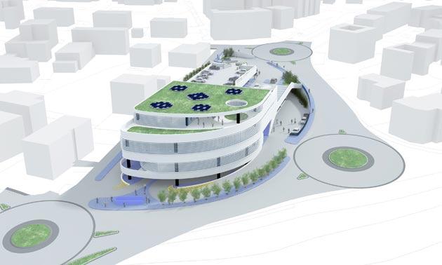 A osimo un centro polifunzionale progettato dagli for Piccoli piani di progettazione di edifici commerciali
