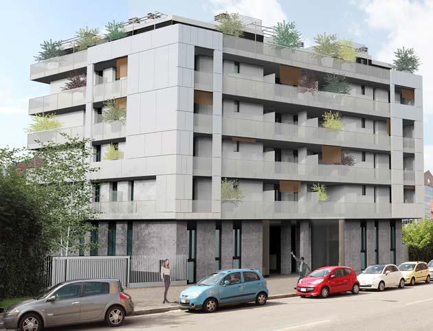 Classe energetica a per l edificio acqua nova a milano for Progettazione di edifici residenziali