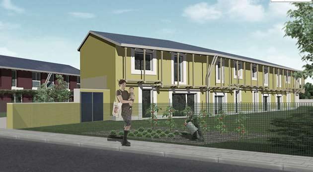 Borgo bioclimatico zero energy di basiliano for Casa moderna udine