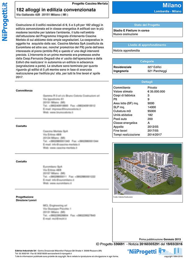 alloggi in edilizia Milano