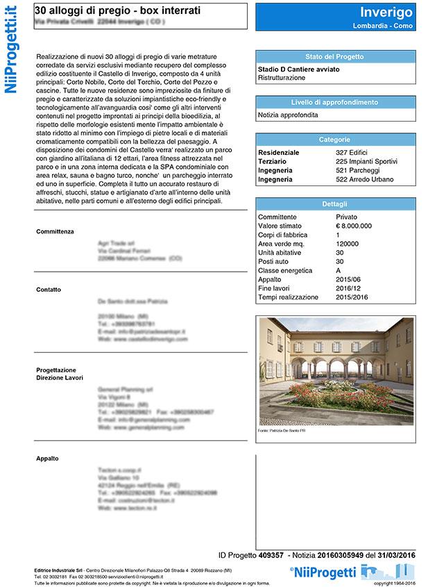 30 alloggi di pregio Como