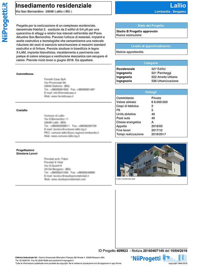 insediamento residenziale Bergamo